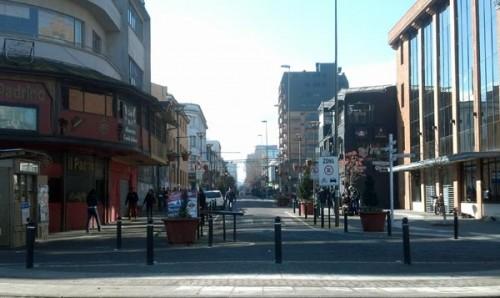 Inicio de calle Barros Arana