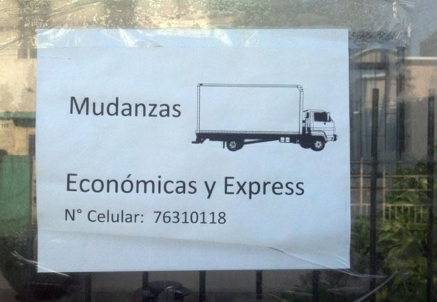 Aviso de mudanza visto en Concepción.
